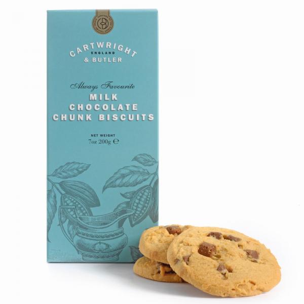Biscuiti cu ciocolata cu lapte in cutie carton 200G 1