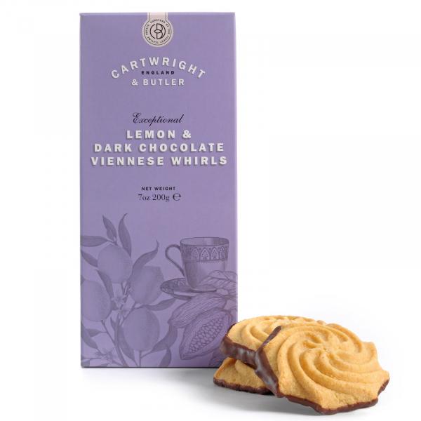 Biscuiti cu lamaie si ciocolata neagra in cutie carton 200G 1