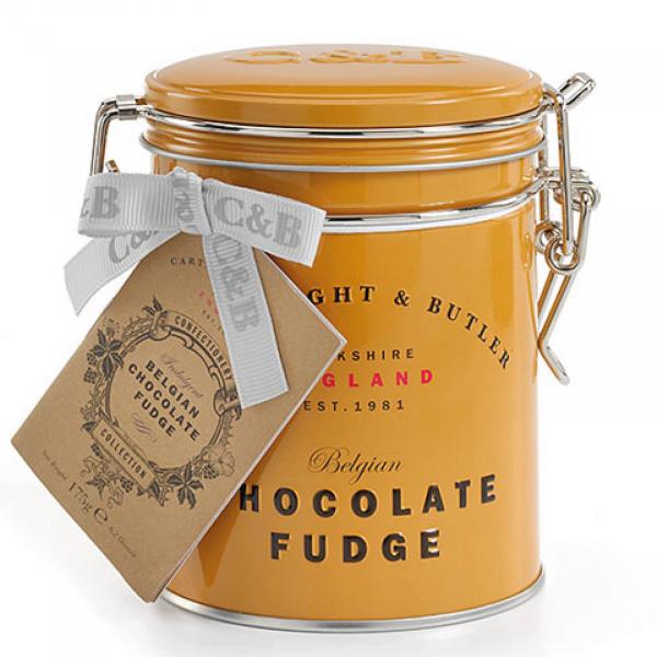 Fudge cu ciocolata belgiana in cutie metalica 175G 0