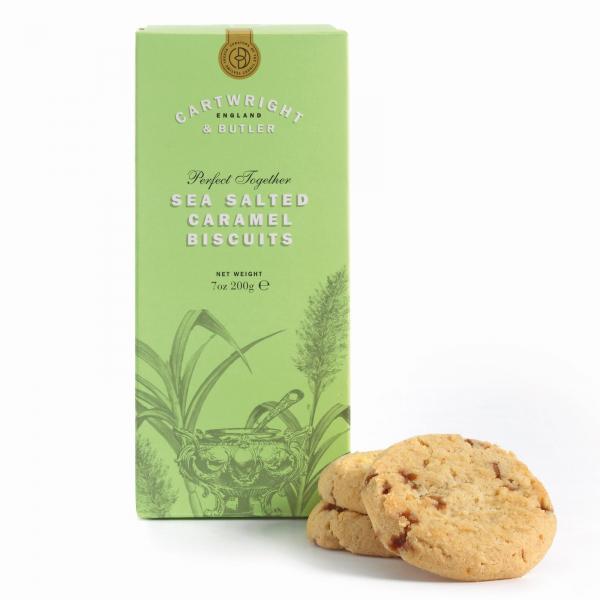 Biscuiti cu caramel sarat in cutie carton 200G 1