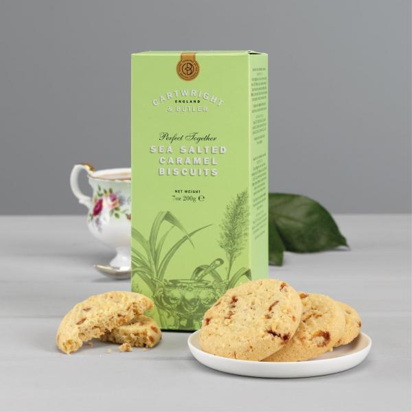 Biscuiti cu caramel sarat in cutie carton 200G 2