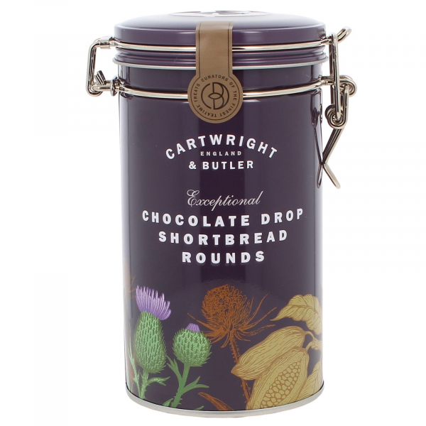 Biscuiti cu ciocolata in cutie metalica 200G 0
