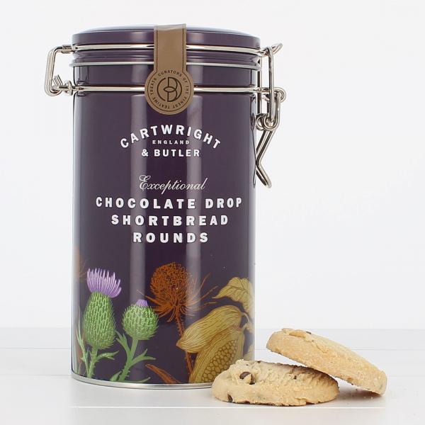 Biscuiti cu ciocolata in cutie metalica 200G 1