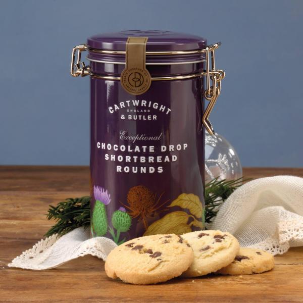 Biscuiti cu ciocolata in cutie metalica 200G 2