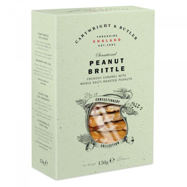 Crantanele de caramel sarat cu alune in cutie carton 150G 0