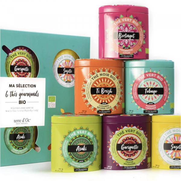 Ceai verde organic Gariguette cu capsuni si rubarba 100G 2