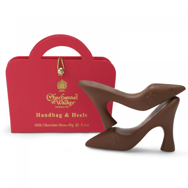 Poseta mini roz 60G - patru pantofi din ciocolata cu lapte 0