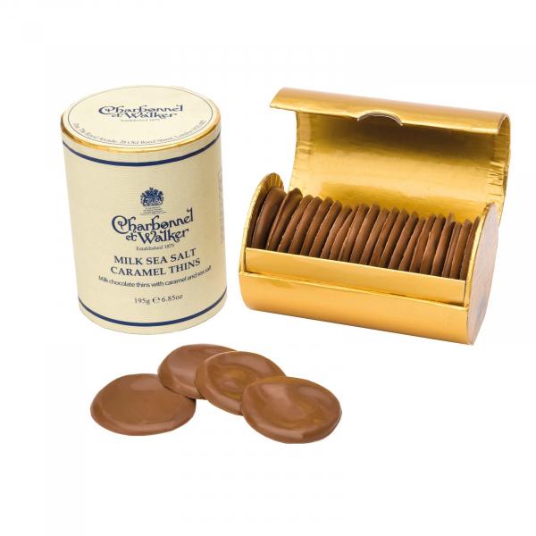 Discuri de ciocolata cu lapte si caramel sarat 200G 2