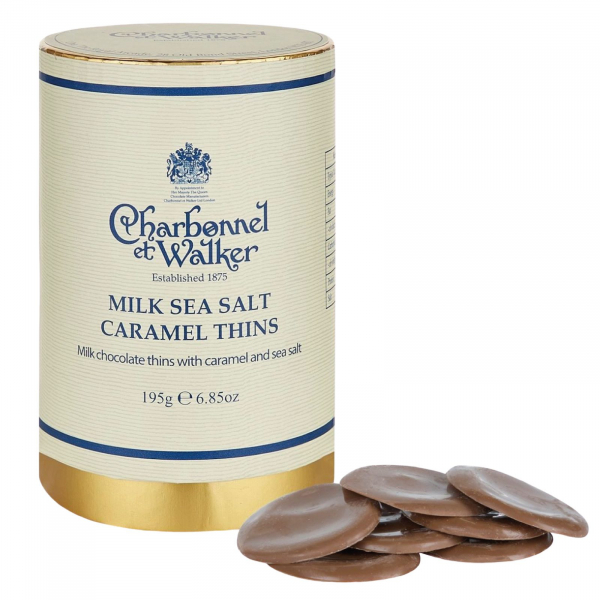 Discuri de ciocolata cu lapte si caramel sarat 200G 1