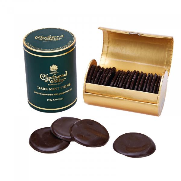 Discuri de ciocolata neagra cu menta 200G 2