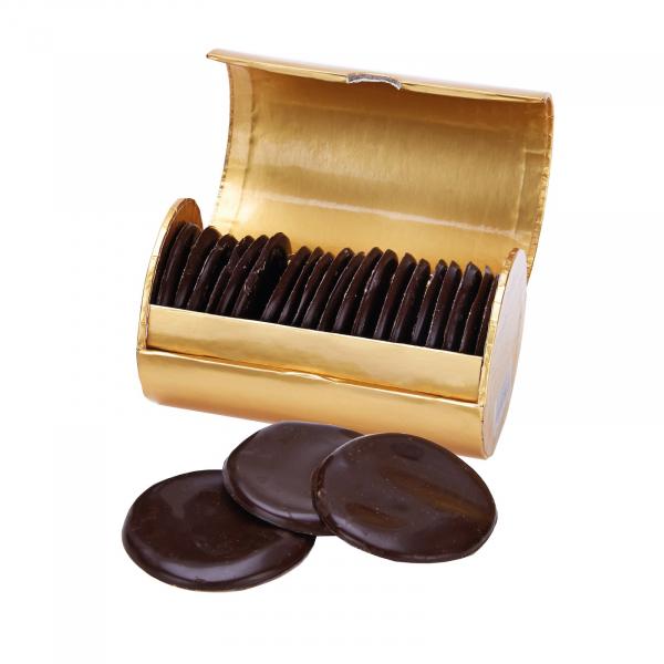 Discuri de ciocolata neagra cu menta 200G 3