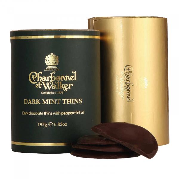 Discuri de ciocolata neagra cu menta 200G 1