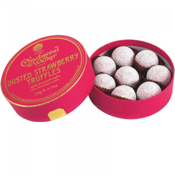 Trufe de ciocolata cu capsuni 135G 0