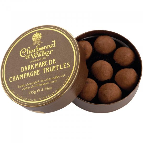 Trufe de ciocolata neagra Marc de Champagne 135G 0