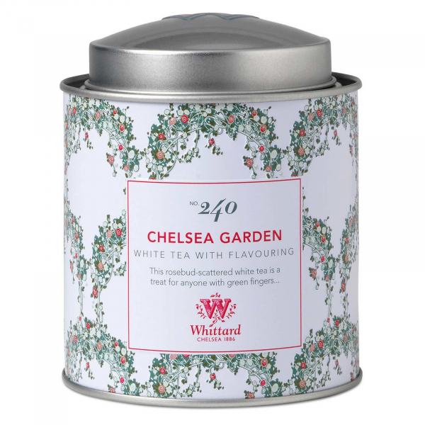 Chelsea Tea - ceai alb cu boboci de trandafir in cutie metalica 0