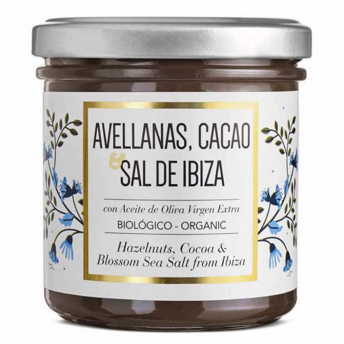 Crema de ciocolata organica cu alune de padure si Sal de Ibiza 150G 0