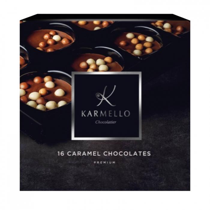Asortiment premium 16 bomboane de ciocolata cu caramel 0