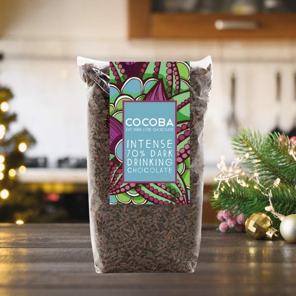 Fulgi de ciocolata neagra intensă 70% 250G 4