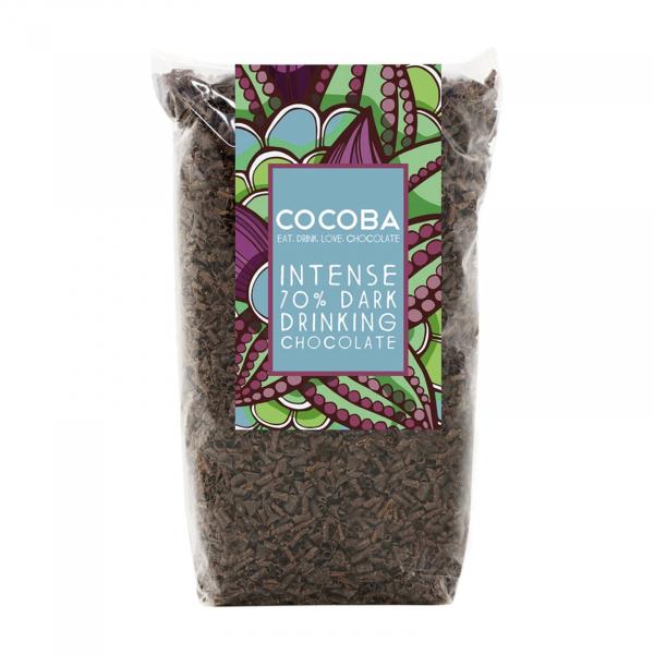 Fulgi de ciocolata neagra intensă 70% 250G 0