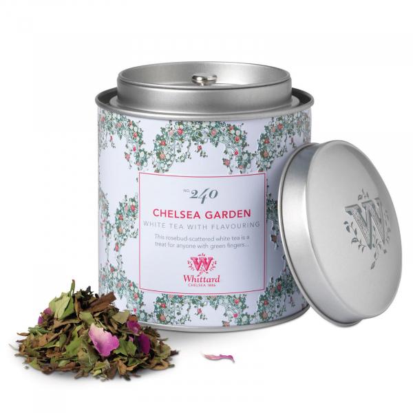 Chelsea Tea - ceai alb cu boboci de trandafir in cutie metalica 1