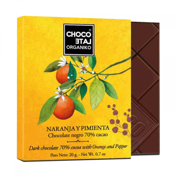 Set ciocolata organica blanco 80G 2