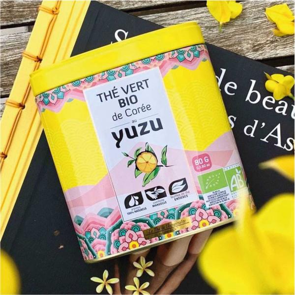 Ceai verde organic cu Yuzu 80G 2