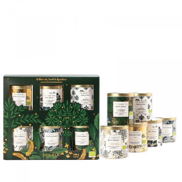 Set cadou - ceaiuri organice de Craciun 250G 1