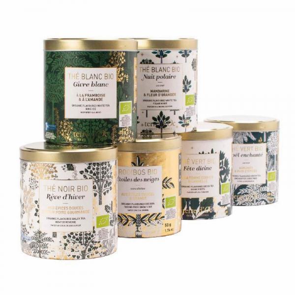 Set cadou - ceaiuri organice de Craciun 250G 2