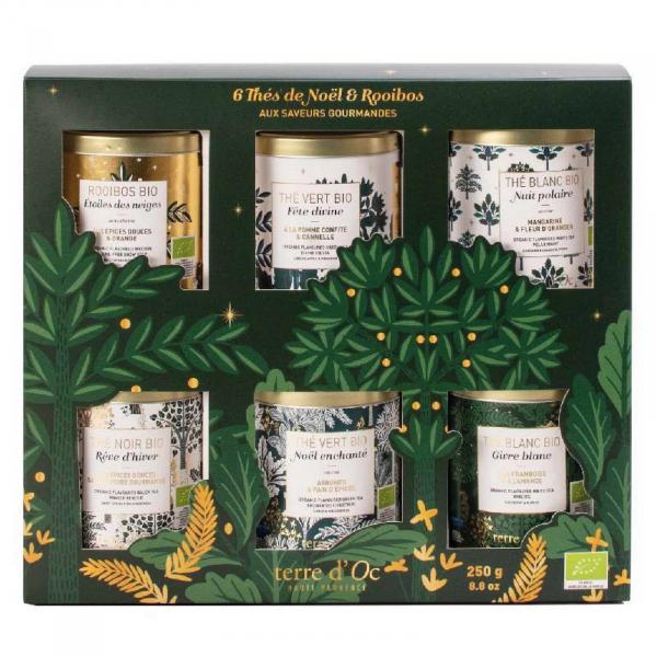 Set cadou - ceaiuri organice de Craciun 250G 0