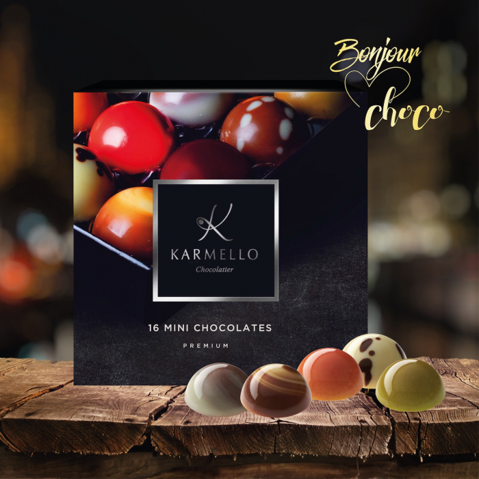 Asortiment premium 16 mini-bomboane de ciocolata cu umplutura 2