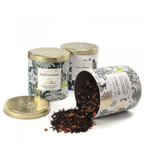 Set cadou - 3 ceaiuri organice de Crăciun 150G 1