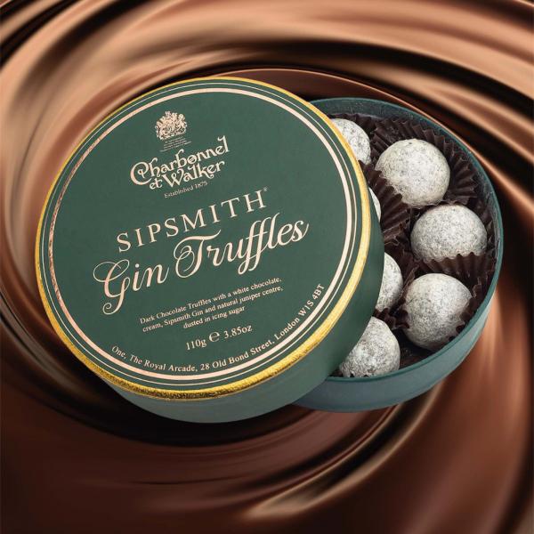 Trufe de ciocolata cu gin Sipsmith 110G 1