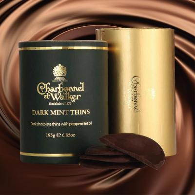 Discuri de ciocolată neagră cu mentă 195G4