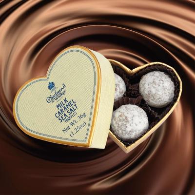 Trufe de ciocolată cu lapte și caramel sărat 36G - Inimă crem1