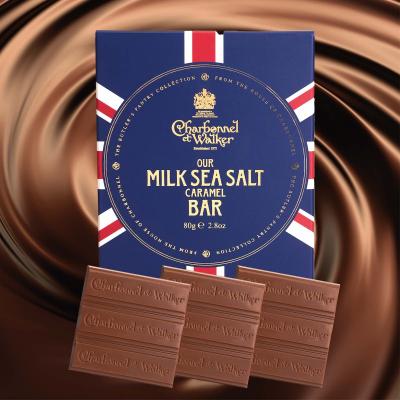 Ciocolată cu lapte și caramel sărat 80G3