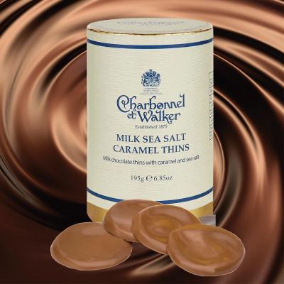 Discuri de ciocolată cu lapte și caramel sărat 195G4