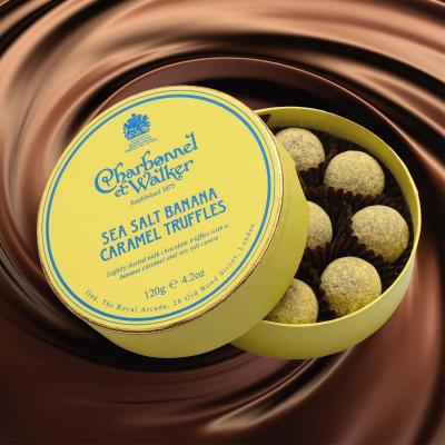 Trufe de ciocolată cu banane și caramel sărat 120G - Produs nou Mai 20201