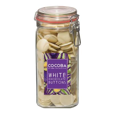 Borcan gigant cu năsturei de ciocolată albă 900G0