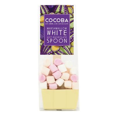 Lingură ciocolată caldă - Ciocolată albă cu bezele 50G0
