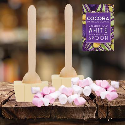Lingură ciocolată caldă - Ciocolată albă cu bezele 50G3
