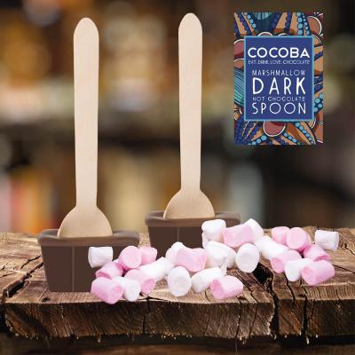 Lingură ciocolată caldă - Ciocolată neagră cu bezele 50G3