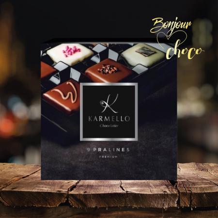 Asortiment premium 9 praline de ciocolată cu umplutură3
