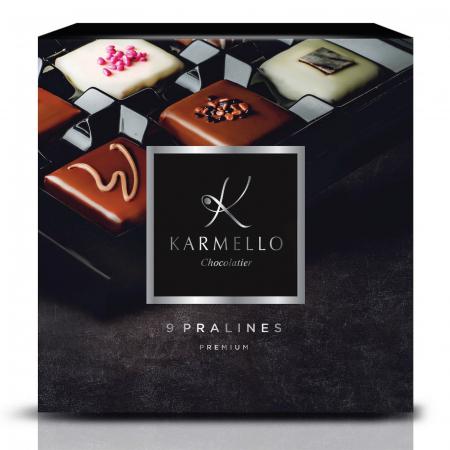 Asortiment premium 9 praline de ciocolată cu umplutură0