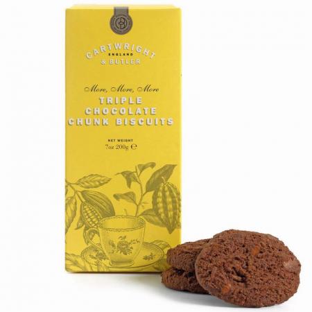 Biscuiți cu trei tipuri de ciocolată în cutie carton 200G0