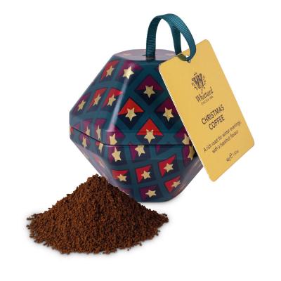 Cafea Crăciun în glob metalic4