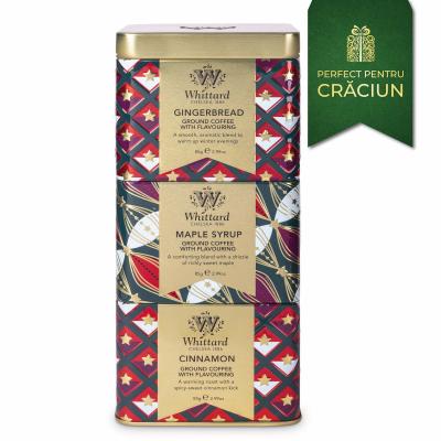 Cafea cu arome de Crăciun în 3 cutii metalice4