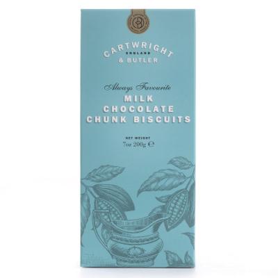 Biscuiți cu ciocolată cu lapte în cutie carton 200G0