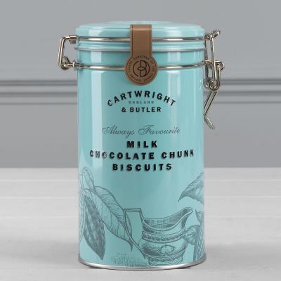 Biscuiți cu ciocolată cu lapte în cutie metalică 200G2