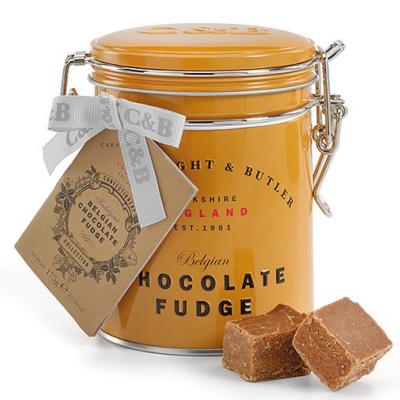 Fudge cu ciocolată belgiană în cutie metalică 175G1