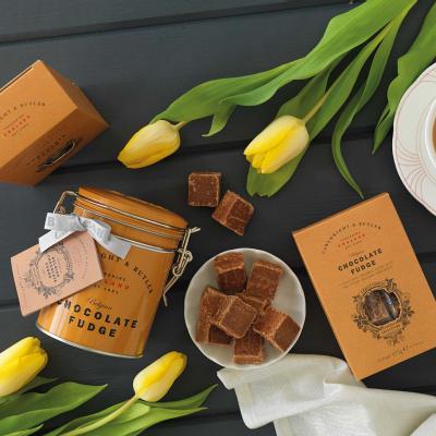 Fudge cu ciocolată belgiană în cutie metalică 175G2